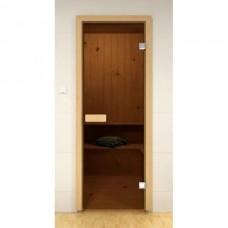 Двери для сауны стандартные, бронза 800x2100